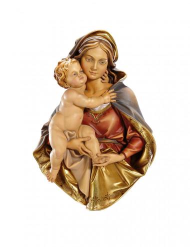 San Mattia con scure, scultura in legno