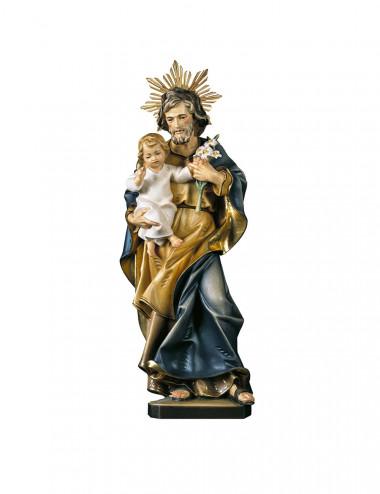 San Giuseppe con Giglio scolpito in legno