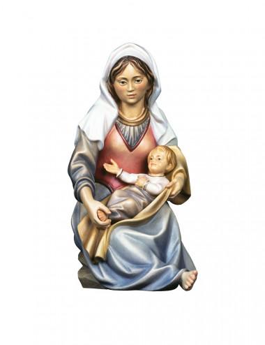 Madonna moderna statua scolpita di legno